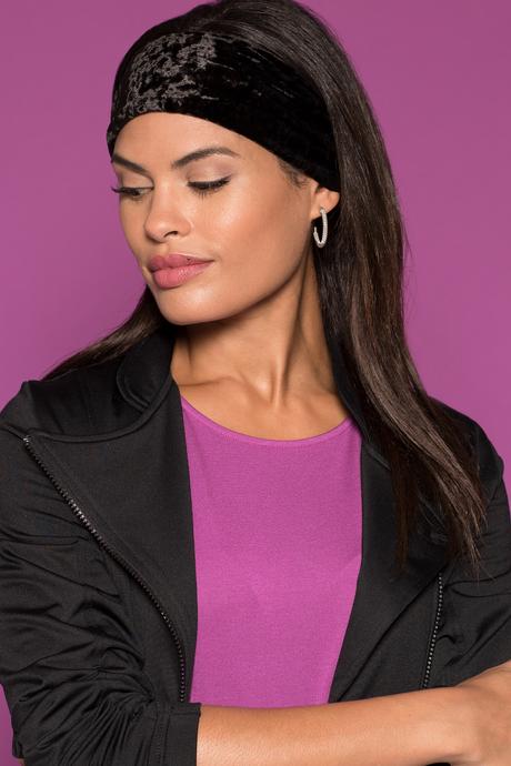 Velvet headband black