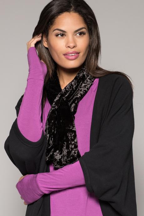 Velvet scarf black