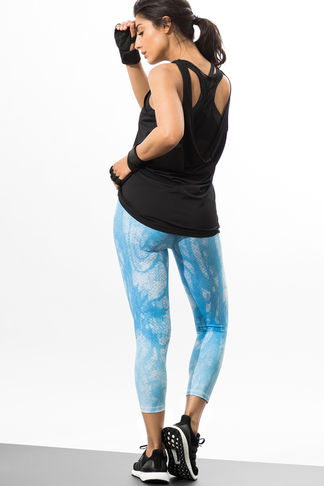 Reversible capri blue viper back