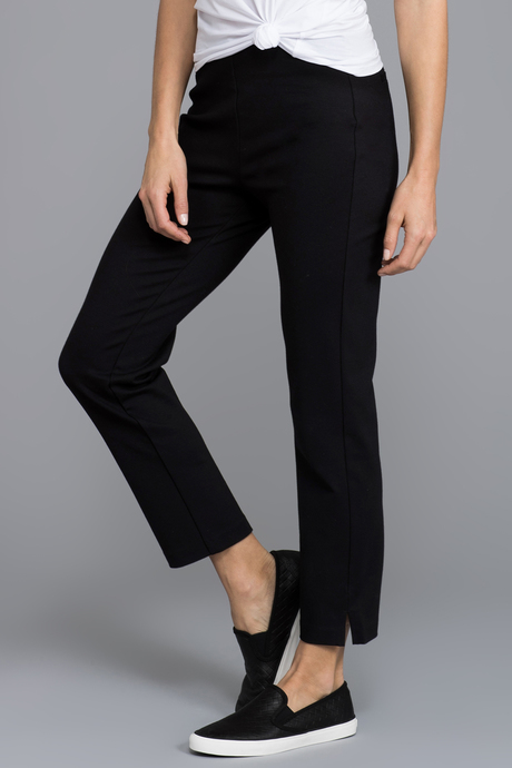 Ponte slit crop side