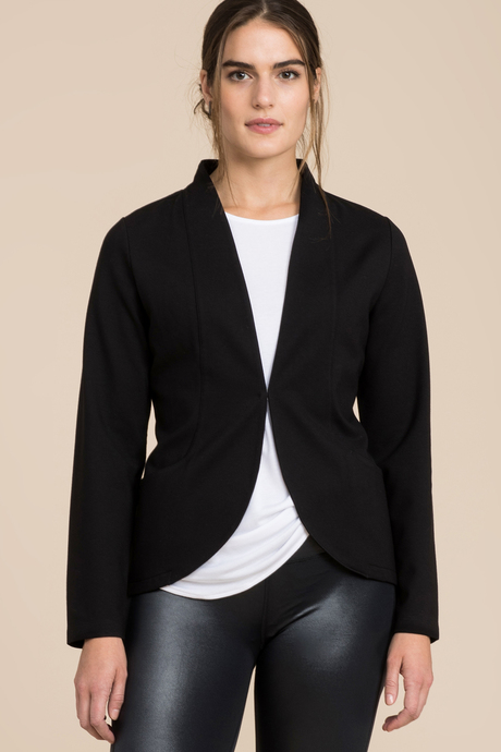 Ponte blazer front pinned