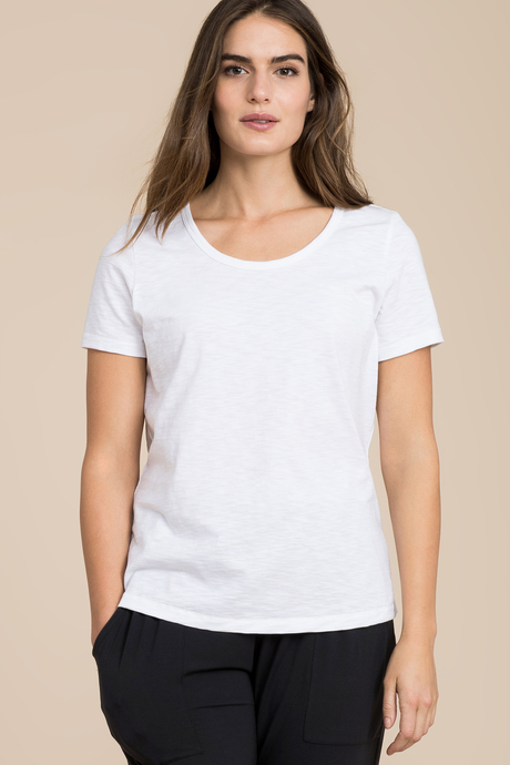 Slub scoop neck front2