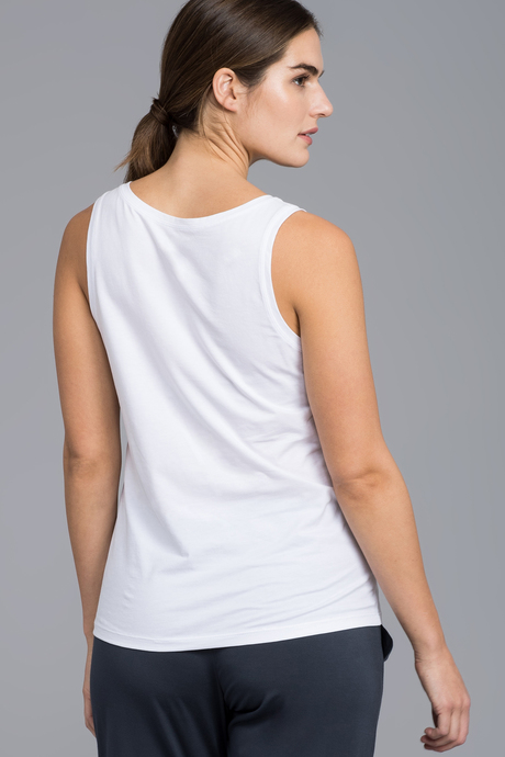 Pima tank white back