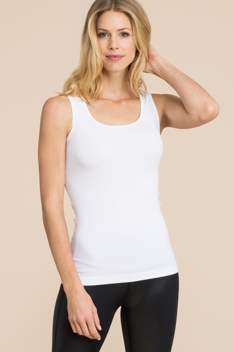 Ribbed tank white front