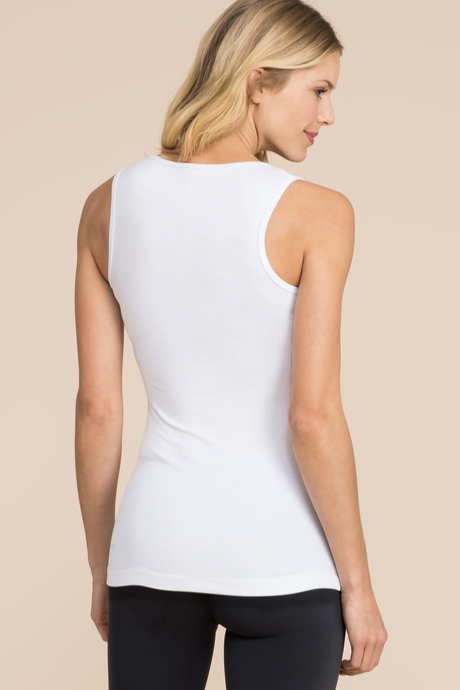 Ribbed tank white back