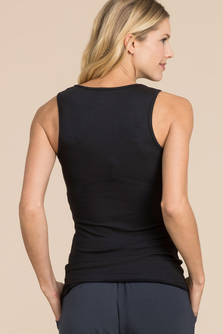 Ribbed tank black back
