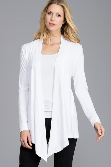Flyaway cardigan white front