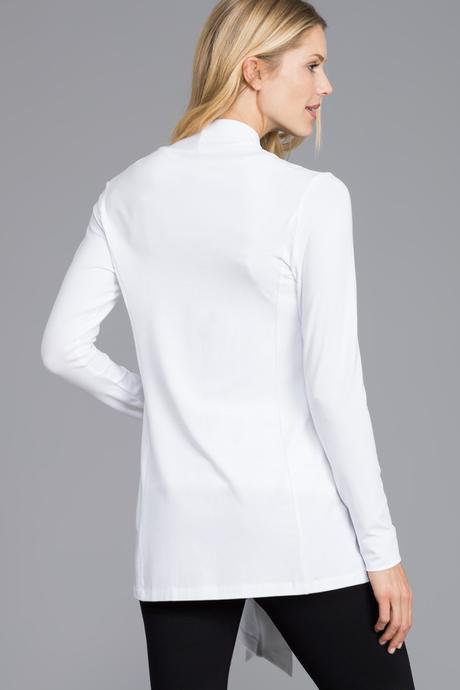 Flyaway cardigan white back