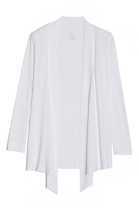 Flyaway cardigan pinup white