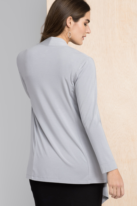 Flyaway cardigan grey back