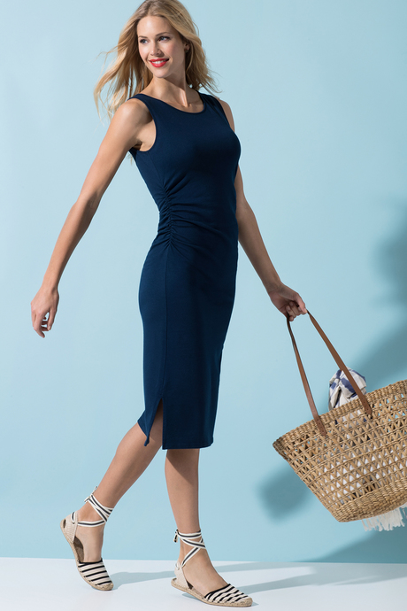 Haley dress navy