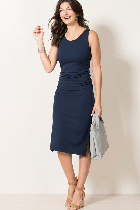 Haley dress navy front