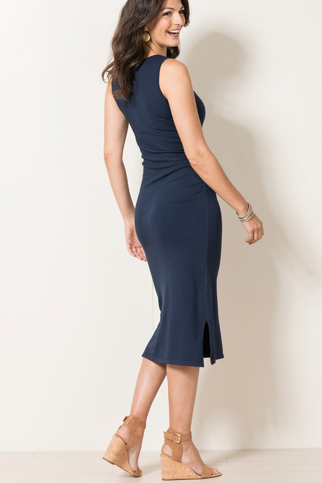 Haley dress navy back