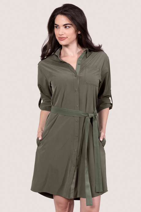Au19 ecommimages safarishirtdress mossgreen front