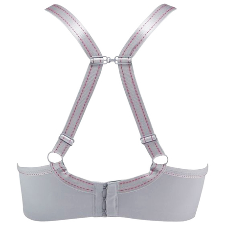 Sports bra light grey image back
