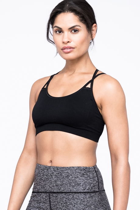 Strappy sports bra front