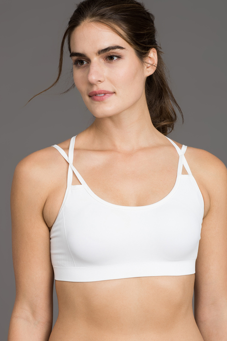 Strappy bra white front