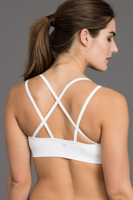 Strappy bra white back