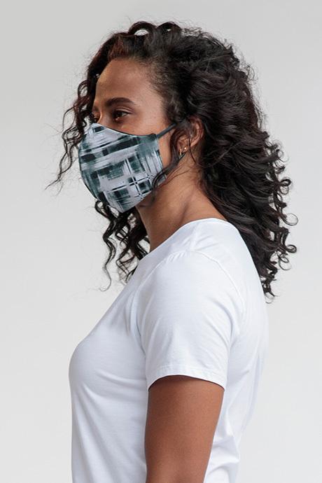 Facemask greyblack side