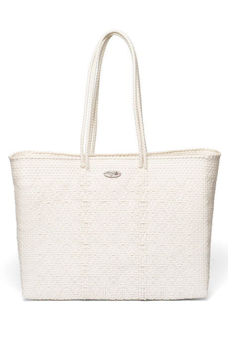 White tote front