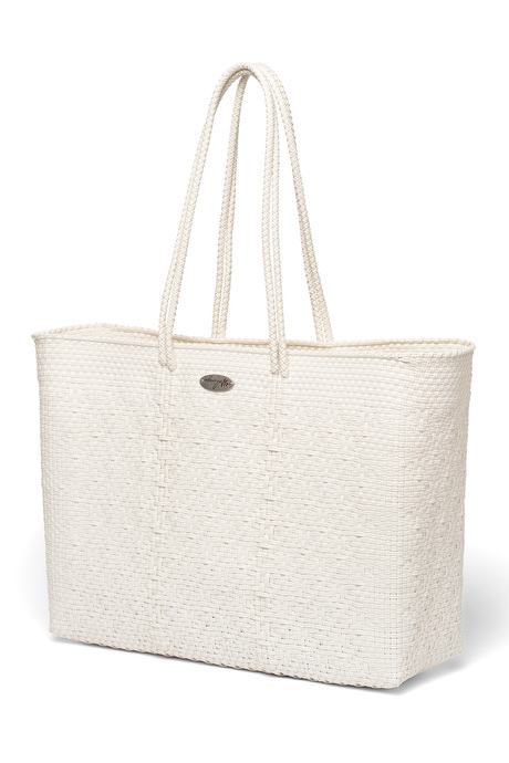 White tote side