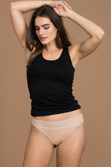 Simply soft thong front