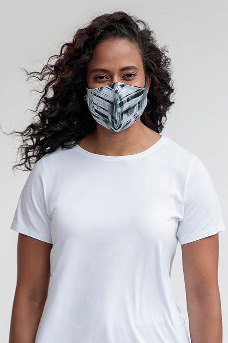Facemask greyblack front
