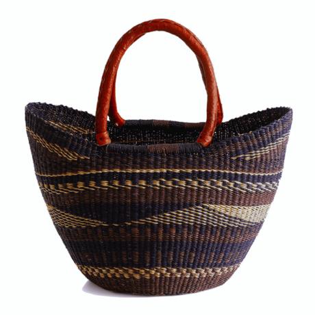 Medium ghana shopper basket plum