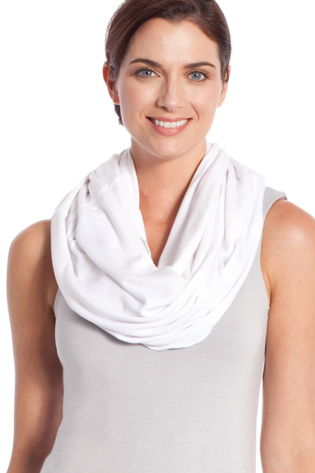 Infinity scarf oldwhite