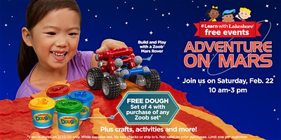 Lakeshore's Adventure on Mars - Free In Store Event (The Woodlands)