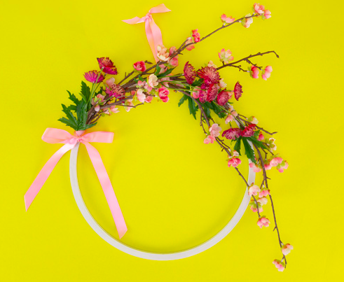 Make Break Floral Hoop Wreath