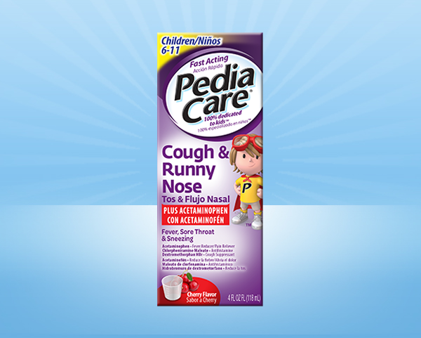 PediaCare® Children Fever Reducer Plus Cough & Runny Nose With Acetaminophen