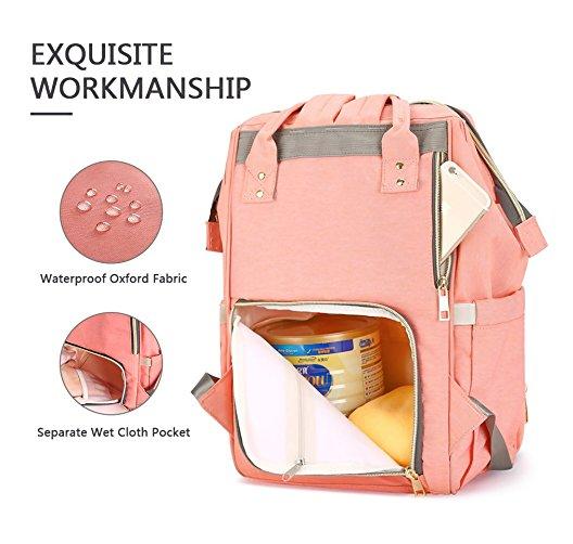 5d740dbf86c HaloVa Diaper Bag Multi-Function Waterproof Travel Backpack Nappy Bags for Baby  Care - Peerhub