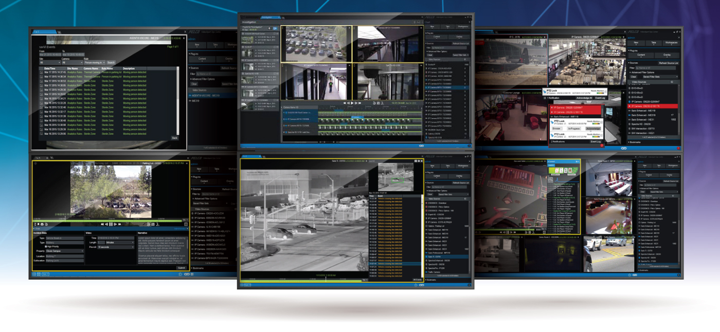 pelco video management systems page header image