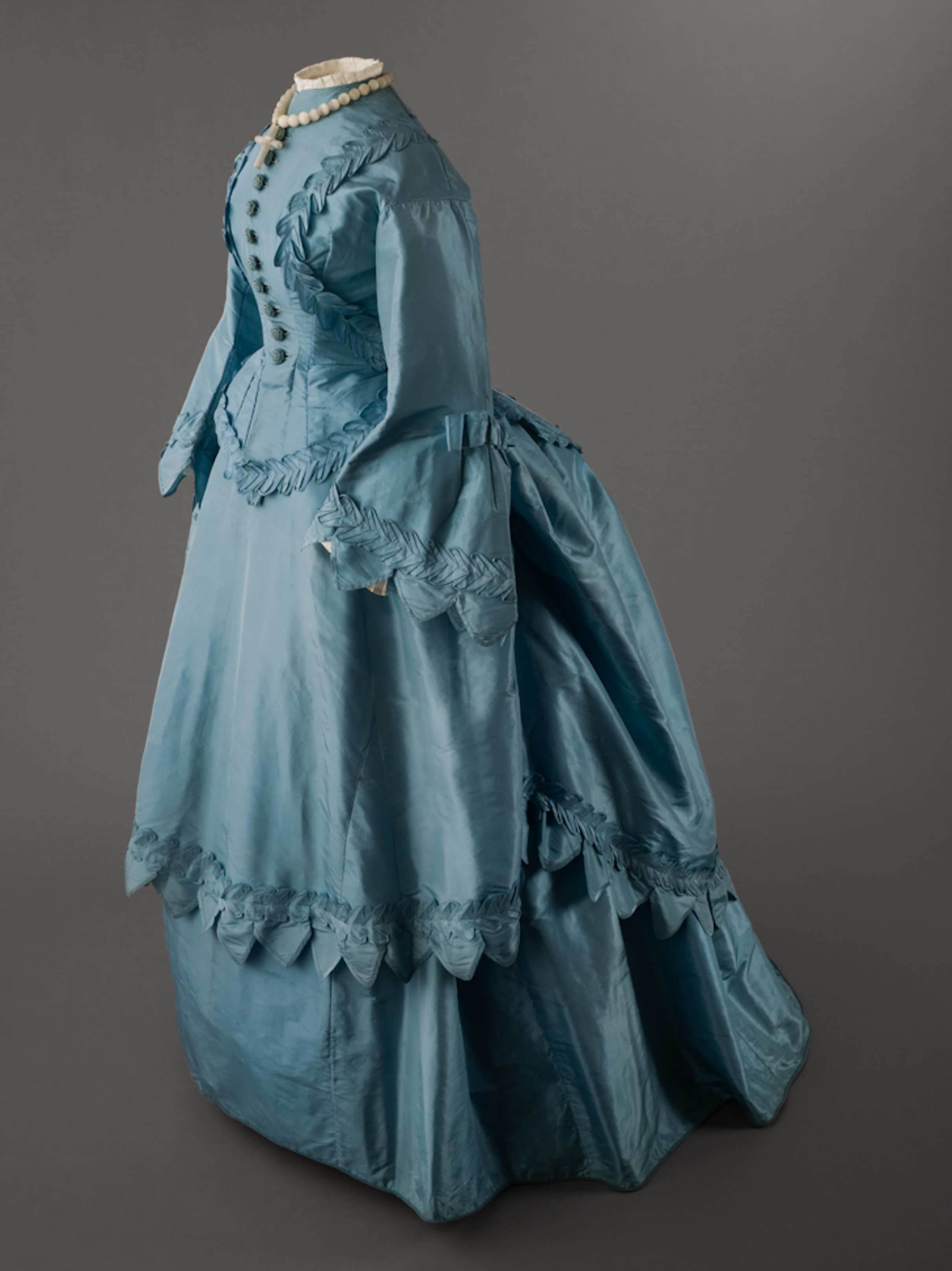 Wedding Dress of Jeannette Forrester Renton (blue silk)