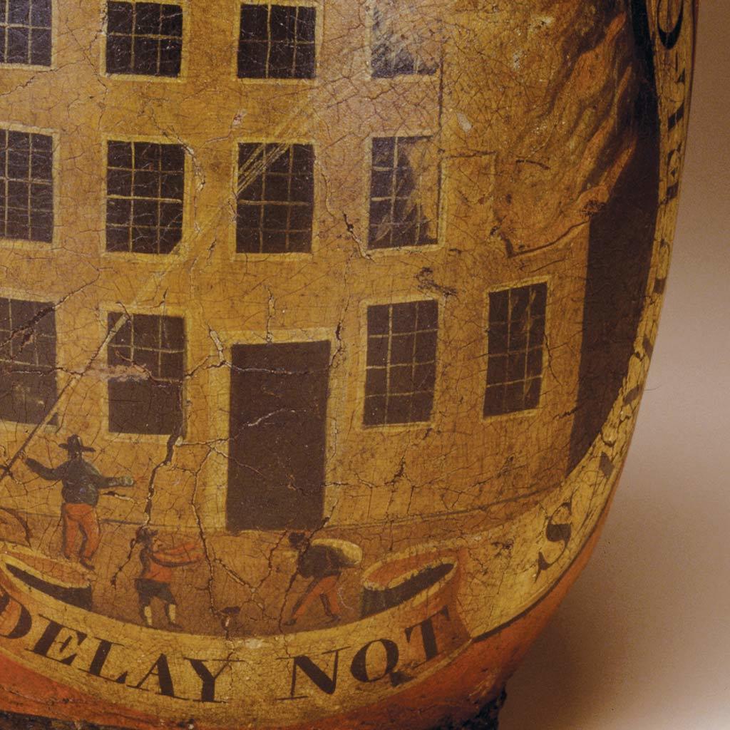 Fire bucket, 1830-1840