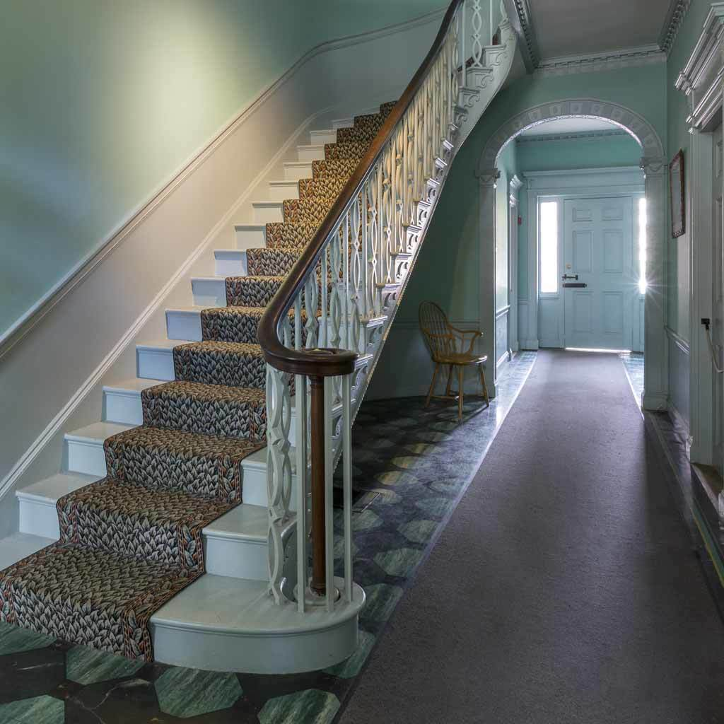 Gardner-Pingree House interior stairwell