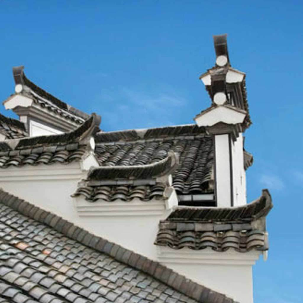 Yin Yu Tang: A Chinese House, exterior roof view