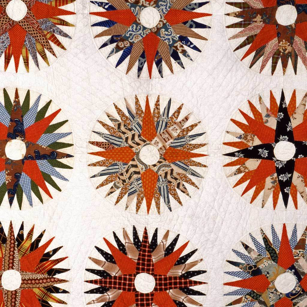 Applique Rising-Sun Quilt, ca. 1845