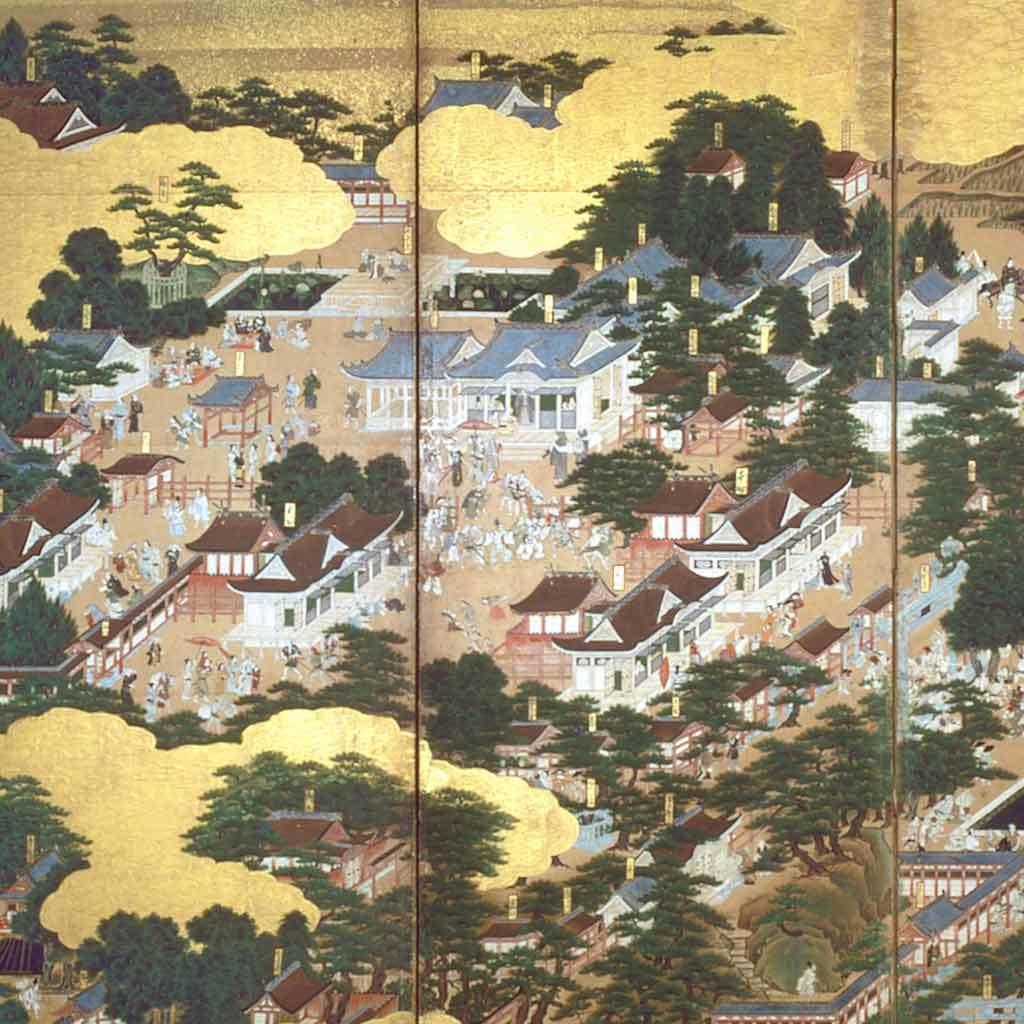 Six panel screen, ca. 1660