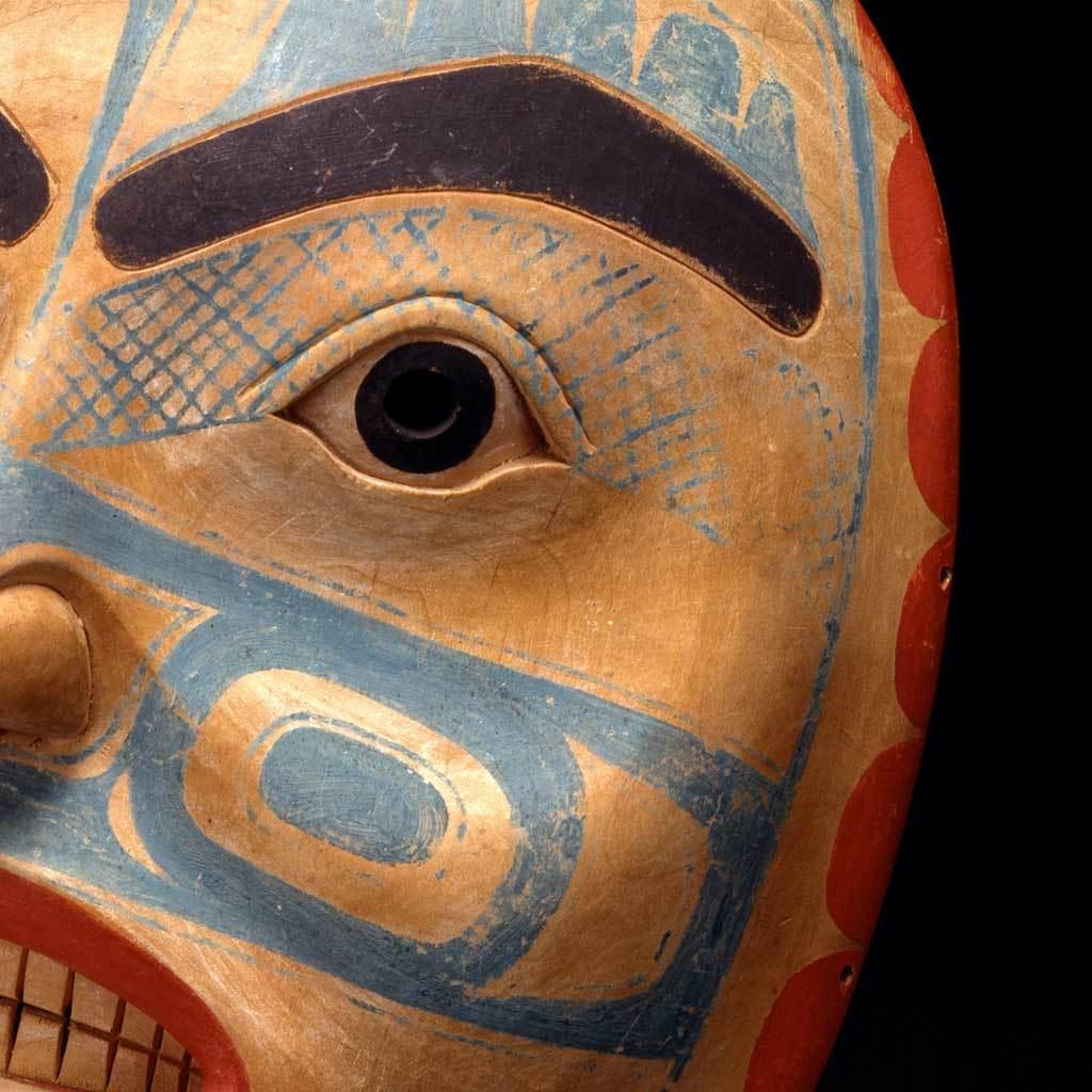 Mask, carved ca. 1825