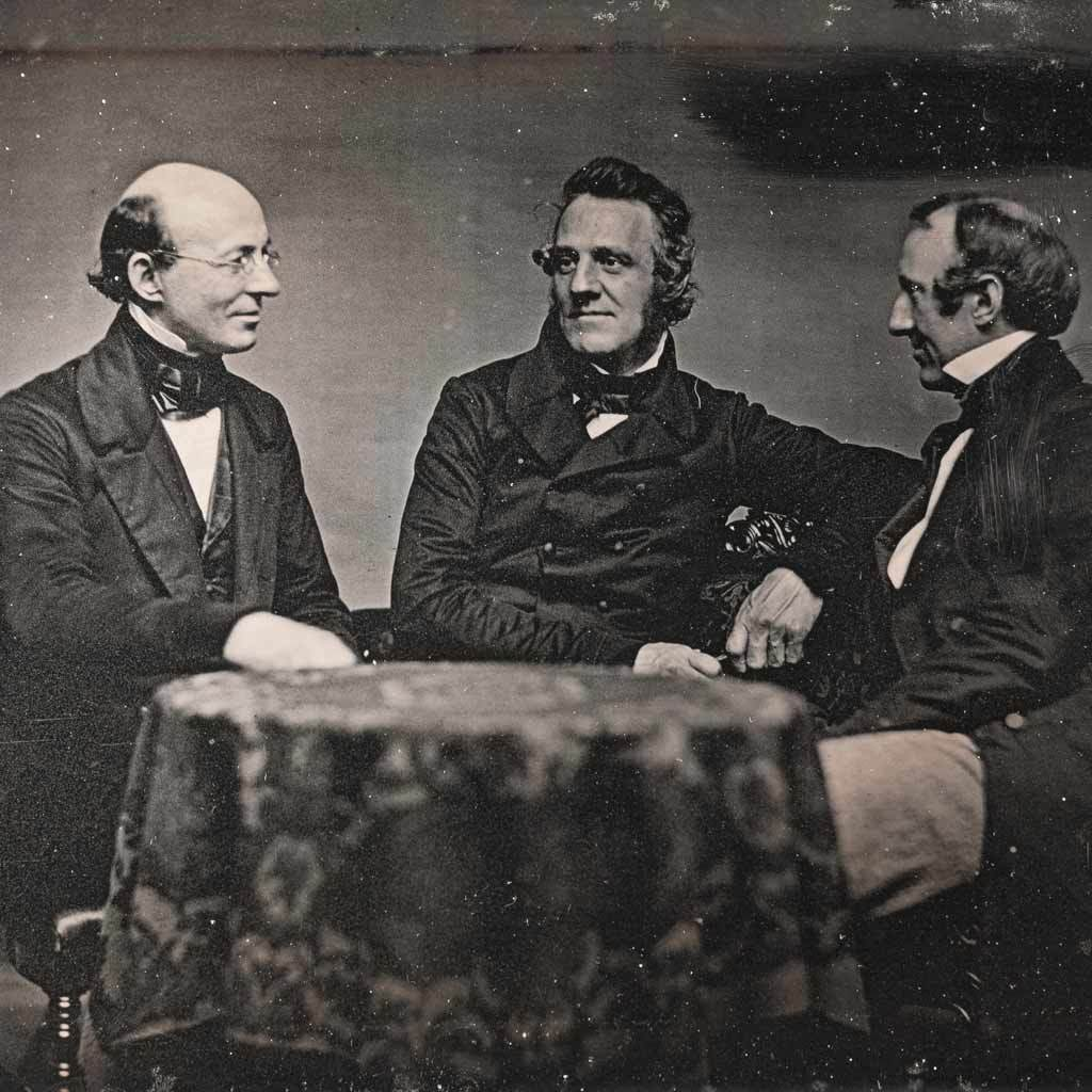 Portrait of William Lloyd Garrison, George Thompson, and Wendell Phillips
