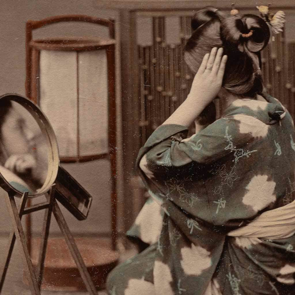 Japanese Woman at Her Toilette, about 1880
