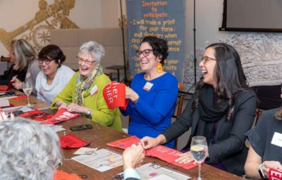 Building community with Marie Watt, sewing circle