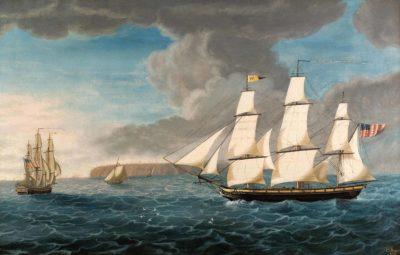 George Ropes. 1778-1819, Salem, Mass. The Ship Friendship Homeward Bound, 1805