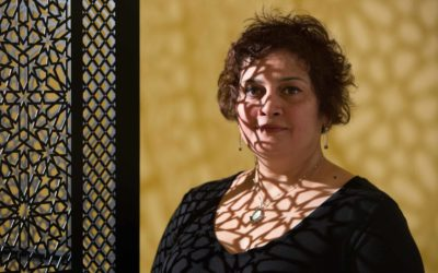 Intersections artist, Anila Quayyum Agha. Photo Credit Kathy Tarantola.