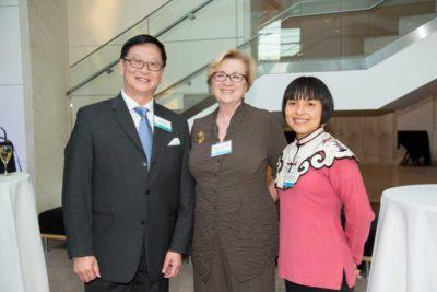 Richard He, Chief Representative (USA) at China Guardian Auctions Co. Ltd.; Lynda Hartigan, PEM's James B. and Mary Lou Hawkes Deputy Director and Daisy Yiyou Wang, PEM's Curator of Chinese and East Asian art
