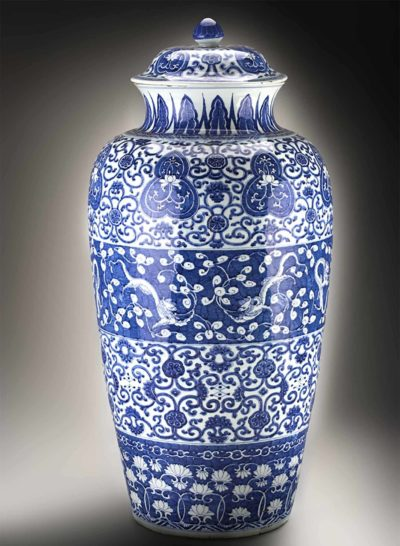 Chinese artists, large covered vase (detail), 1710