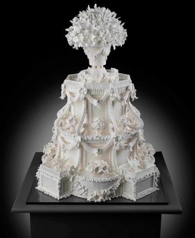 Cile Burbidge's detailed wedding cake, Architectural Fantasy Cake, 2007