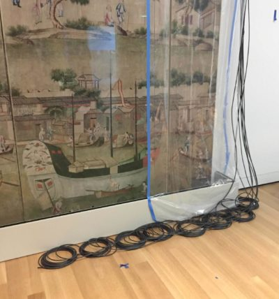 Wire management of the 24 channel speaker system